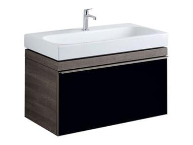 Mobile in abbinamento lavabo MOBILE SOTTOLAVABO CITTERIO UNO 90 FUMÉ