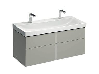 Mobile in abbinamento lavabo MOBILE XENO² 120 QUATTRO GRIGIO OPACO