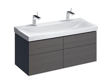 Mobile in abbinamento lavabo MOBILE XENO² 120 QUATTRO GRIGIO ROVERE