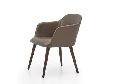 Upholstered chair with armrests MOD | Leather chair