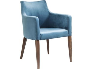Upholstered polyester easy chair with armrests MODE | Easy chair with armrests