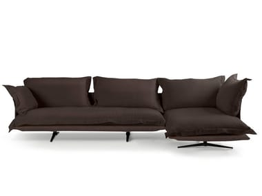 3 seater fabric sofa with chaise longue MODEL | Sofa with chaise longue