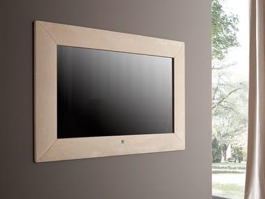 Rectangular wall-mounted framed mirror MODERN