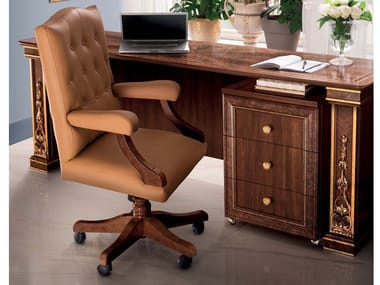 Leather executive chair with armrests MODIGLIANI   Executive chair