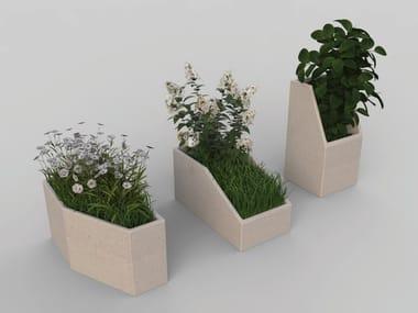 Reconstructed stone Flower pot MODULA   Flower pot