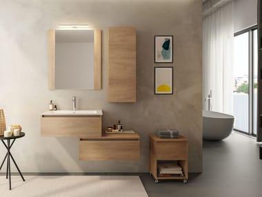 Mobile lavabo componibile sospeso in legno COMPONIBILE 1