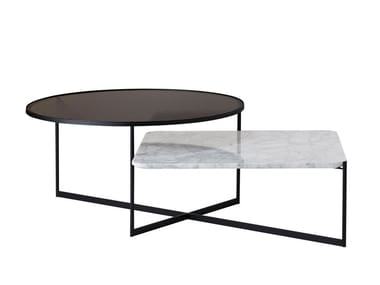 Square coffee table SP01 - MOHANA TABLE LARGE Black+Carrara