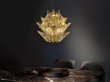 Lampada a sospensione a LED in metallo MOIRÈ