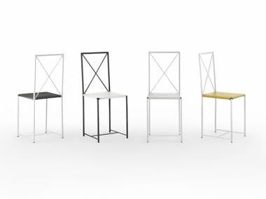 Chaise en métal avec dossier ouvert MOKA | Chaise