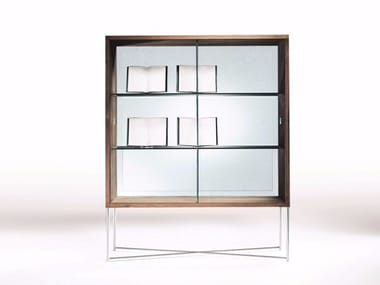 Wooden display cabinet MOKA | Display cabinet