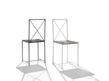 Chaise de jardin en acier inoxydable MOKA OUTDOOR | Chaise en acier inoxydable