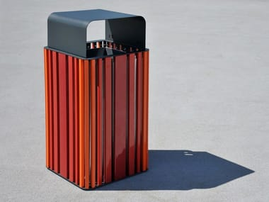 Outdoor steel litter bin MOKINO