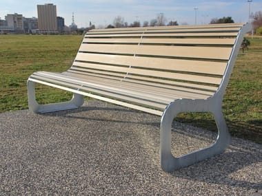 Recyclable Bench with back MOKO ECO