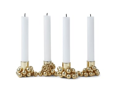 Candle holder GEJST - MOLEKYL 4 Brass