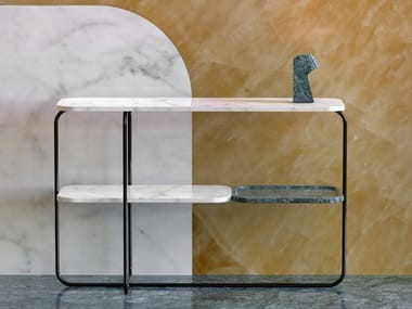 Consolle in metal with tops in marble MOLINA