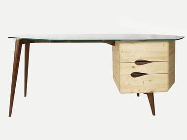 Spruce writing desk with drawers MOLLINO