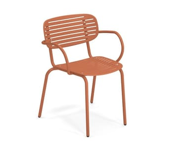 Steel easy chair MOM | Chair with armrests