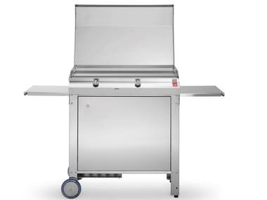 Piastra teppanyaki a gas con carrello MOMA