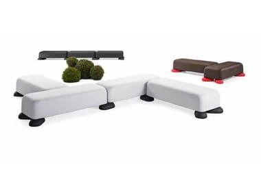 Modular polyethylene bench MOMO