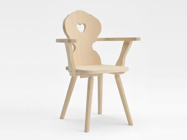 Wooden chair with armrests MONACO | Chair with armrests