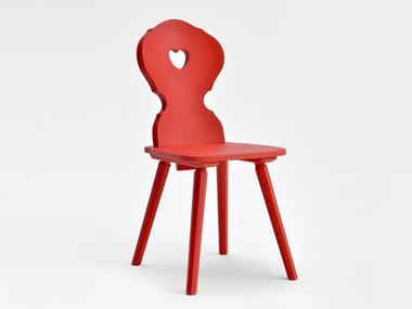 Lacquered wooden chair MONACO | Lacquered chair