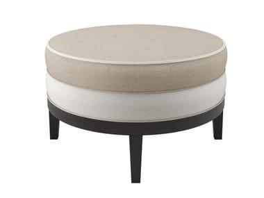 Round fabric bench MONACO | Pouf