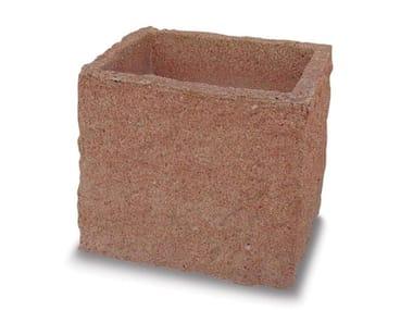 Vaso esagonale in pietra rustica MONCENISIO