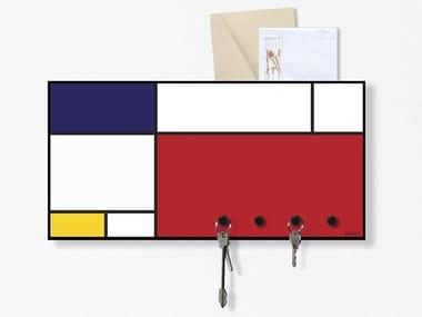 Lavagnetta magnetica con porta lettere MONDRIAN