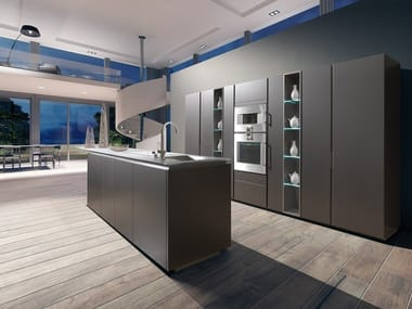 Lacquered wooden fitted kitchen MONFORTE