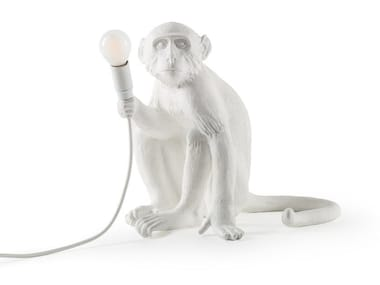 Lampada da tavolo a LED in resina THE MONKEY LAMP SITTING