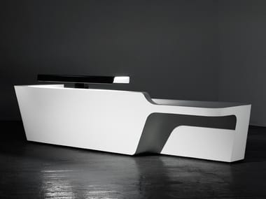 Modular Solid Surface Office reception desk MONO | Reception desk