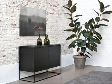 Oak sideboard with doors MONOLIT | Sideboard