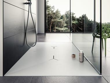 Piatto doccia rettangolare in Meridian Solid Surface® MONOLIT-SH01