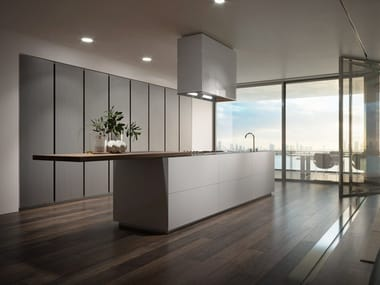 Fitted kitchen without handles MONOLITE