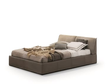 Upholstered leather storage bed MONOLITH 2.0 | Bed