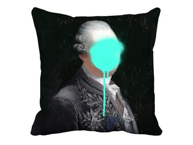 Cuscino quadrato in velluto MONSIEUR MINT   Cuscino