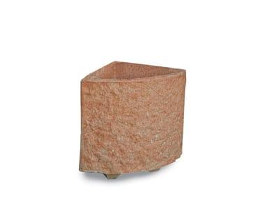 Fioriere in conglomerato di marmo e cemento MONTE BIANCO