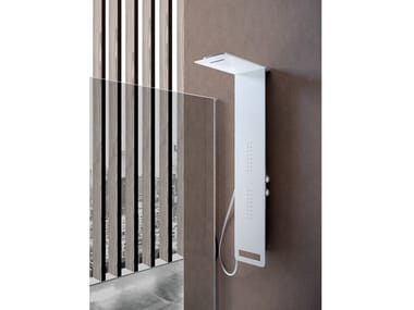 Wall-mounted shower panel with hand shower MONTE BIANCO