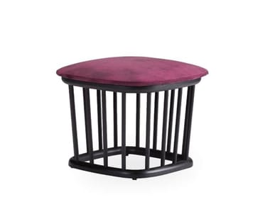 Low ash stool with integrated cushion MONTE | Low stool
