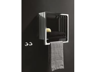 Chrome wall-mounted towel warmer MONTECARLO | Chrome towel warmer