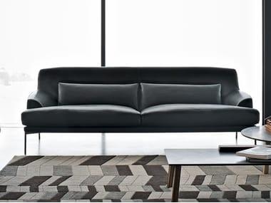 Leather sofa MONTEVIDEO | Leather sofa