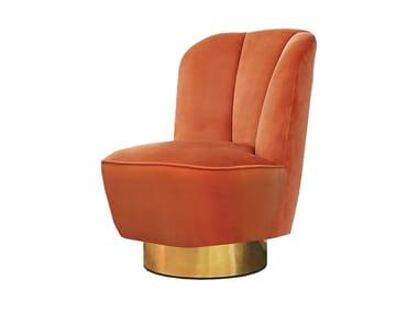 Upholstered velvet armchair MONTI | Armchair