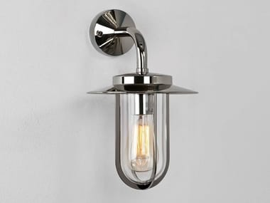Outdoor wall lamp in zinc and glass MONTPARNASSE | Outdoor wall lamp