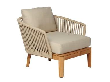 Fabric garden armchair with armrests MOOD   Garden armchair