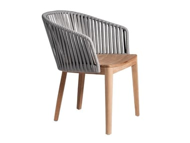 Teak garden chair with armrests MOOD | Garden chair