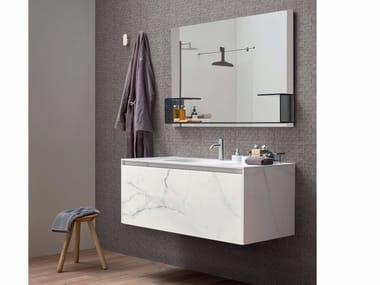Mobile lavabo sospeso in Laminam® MOODE | Mobile lavabo in Laminam®