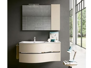 Wall-mounted vanity unit with mirror MOON 02