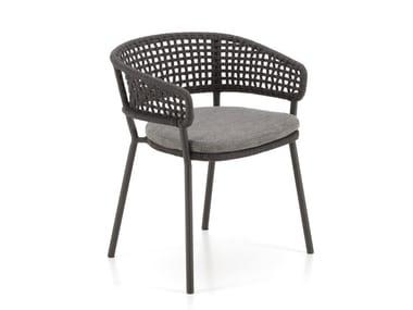 Sedia da giardino con braccioli MOON ALU | Sedia da giardino