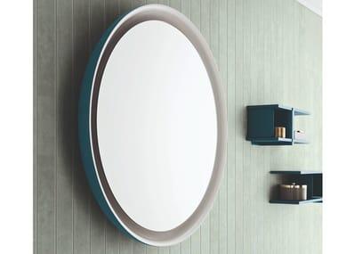 Tilting round framed mirror MOON