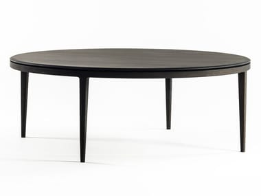 Table à manger ronde en chêne MOON | Table ronde
